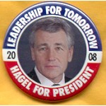 Hopeful 74D - Hagel For President 2008 Campaign Button