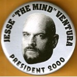 "Hopeful 89H - Jesse ""The Mind"" Ventura President 2000 Campaign Button"