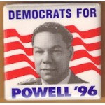 Hopeful 90L - Democrats For  Powell '96 Campaign Button