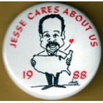 Hopeful 92G - Jesse Cares About Us 1988 Campaign Button