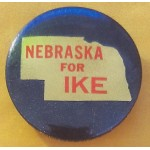 IKE 2S  - Nebraska For  IKE  Campaign Button