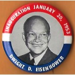 IKE 8J - Inauguration January 20, 1953 Dwight D. Eisenhower Campaign Button