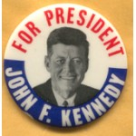 Kennedy JFK 12E - For President John F. Kennedy Campaign Button