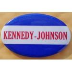 Kennedy JFK 40C -  Kennedy Johnson Campaign Button
