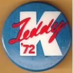 Kennedy EMK 48C - Teddy K '72 Campaign Button