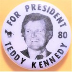 Kennedy EMK 25G - For President Ted Kennedy 80 Campaign Button