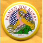 Kerry 21A - Women For Kerry 2004 Campaign Button