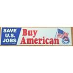 Labor 11H - Save U.S. Jobs  Buy American UAW  Bumper Sticker