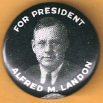 Landon 5E - For President Alfred M. Landon Campaign Button