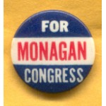 CT 1A - Monagan For Congress Campaign Button