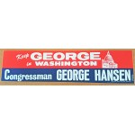 ID 2D - Keep George in Washington Congressman George Hansen  Bumpersticker
