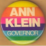 NJ 18N - Ann Klein Governor Campaign Button