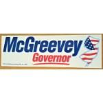 NJ 2Y - McGreevey Governor Bumper Sticker