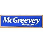 NJ 2Z - McGreevey Governor Bumper Sticker