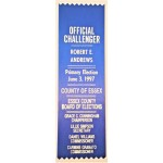 NJ 31R - Official Challenger Robert E. Andrews  Primary Election June 3 , 1997 Ribbon