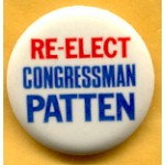 NJ 3E - Re - Elect Congressman Patten Campaign Button