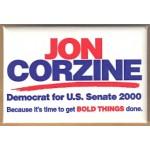 NJ 43G - Jon Corzine Democrat for U.S. Senate 2000 Campaign Button