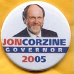 NJ 18C - Jon Corzine Governor 2005 Campaign Button