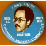 PA 7H - I Was There Wash. D.C. Jan 28 1985 Bright Hope Campaign Button