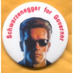 CA 4A - Schwarzenegger for Governor Campaign Button