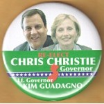 NJ 30C - Re-Elect Chris Christie Governor Lt. Governor Kim Guadagno Campaign Button