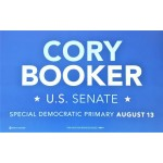 NJ 8Q - Cory Booker U.S. Senate Special Democratic Primary August 13 Rally Sign