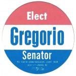 NJ 9W - Elect Gregorio Senator  Paper Sticker