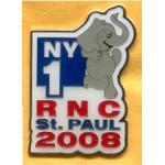 McCain 17A - NY1 RNC  St. Paul 2008 Lapel Pin