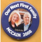 McCain 6B - Our Next First Family Campaign Button