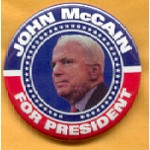 McCain 32B - John McCain For President Campaign Button