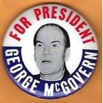 McGovern 12G -   For President George McGovern Campaign Button