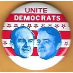 McGovern 7P  - Unite Democrats (McGovern Shriver) Campaign Button