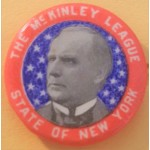 The McKinley League State Of New York Campaign Button