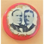 McKinley 7J - (William McKinley and Theodore Roosevelt) Campaign Button