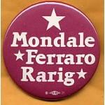 Mondale 5C - Mondale Ferraro Rarig Campaign Button