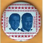 Nixon 18F - Nixon Agnew Campaign Button