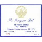 Nixon 70D - The Inaugural Ball (Nixon Inauguration) January 20, 1973 Ticket