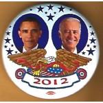 Obama 12H - (Obama Biden) 2012 Campaign Button