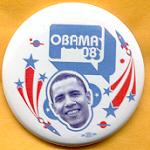 Obama 21A - Obama 08 Campaign Button