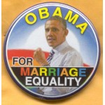 Obama 29B - Obama For Marriage Equality Campaign Button