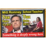Obama 30B - Mitt Romney  School Teacher  Campaign Button