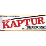 OH 7R - Re-Elect Congress Marcy Kaptur Democrat Bumper Sticker