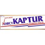 OH 7U - Let's Keep Marcy Kaptur Working For Us Bumper Sticker