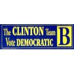 Clinton 117B  - The Clinton Team Vote Democratic B Bumper Sticker