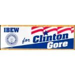 Clinton 139A - IBEW for Clinton Gore Bumper Sticker