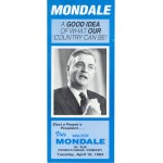Mondale 2F  -  Vote Walter Mondale In The Pennsylvania Primary Paper Flyer