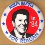 Reagan 109D - North Dakota in '84 For Reagan Campaign Button