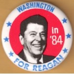Reagan 110E - Washington in '84 For Reagan Campaign Button