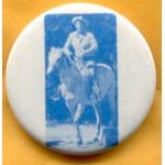 Reagan 14C - Ronald Reagan on horseback Campaign Button