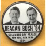 Reagan 19C - Reagan - Bush '84 Columbus Day Parade New York  New York 1984 Campaign Button